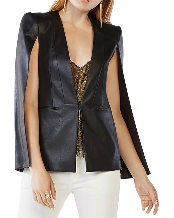 BCBGMAXAZRIA - Upas Faux Leather Cape