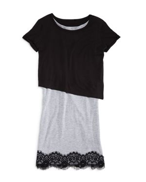 Aqua Girls' Asymmetric Overlay Dress, Big Kid - 100% Exclusive