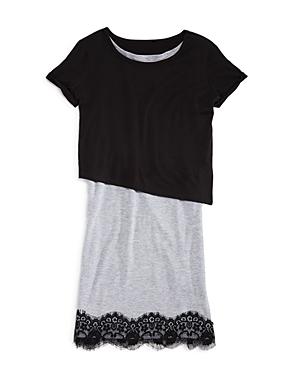 Aqua Girls Asymmetric Overlay Dress Sizes Sxl  100 Exclusive
