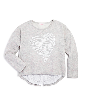 Design History Girls Tiger Stripe Heart Pullover  Sizes Sxl