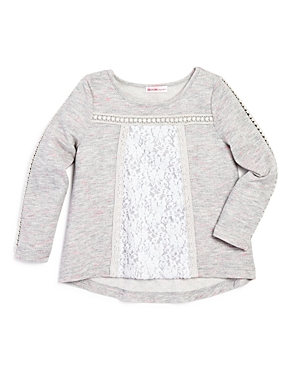 Design History Girls Lace Panel Top  Little Kid