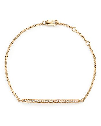 Bloomingdale's - Diamond Bar Bracelet in 14K Yellow Gold, .25 ct. t.w.- 100% Exclusive