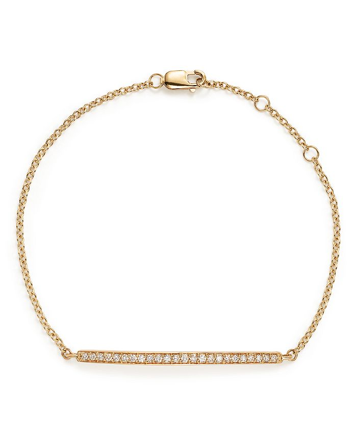Bloomingdale's - Diamond Bar Bracelet in 14K Yellow Gold, .25 ct. t.w. - 100% Exclusive