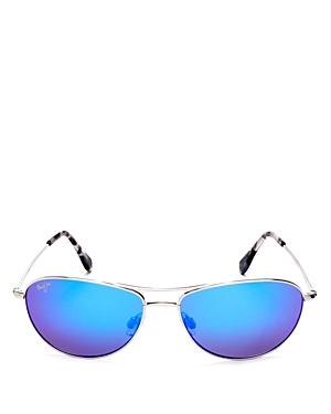 Unisex Baby Beach Polarized Brow Bar Aviator Sunglasses