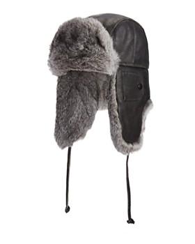 Crown Cap - Vintage Leather Fur Aviator Hat