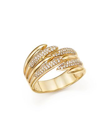 Bloomingdale's - Diamond Micro Pavé Open Band in 14K Yellow Gold, .25 ct. t.w. - 100% Exclusive