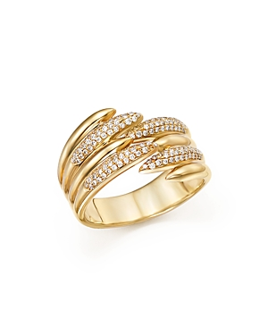 Diamond Micro Pave Open Band in 14K Yellow Gold, .25 ct. t.w. - 100% Exclusive