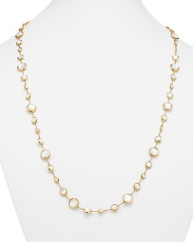 IPPOLITA - 18K Gold Lollipop® Lollitini Necklace in Mother-Of-Pearl Doublet and Clear Quartz, 36""