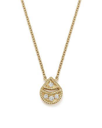 "Dana Rebecca Designs - 14K Yellow Gold Rochelle Jo Teardrop Diamond Pendant Necklace, 16"""