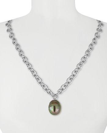 "Majorica - Simulated Pearl Pendant Necklace, 16"""