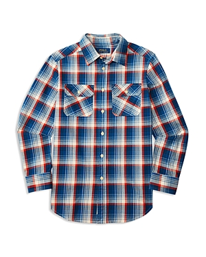 Ralph Lauren Childrenswear Boys' Plaid Twill Workshirt - Little Kid, Big Kid
