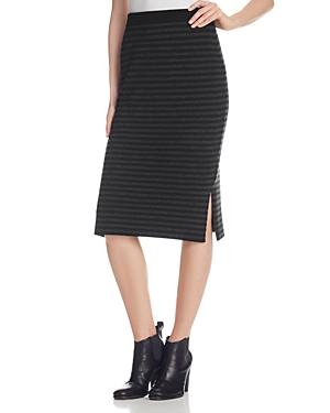 Eileen Fisher Stripe Merino Wool Knit Pencil Skirt
