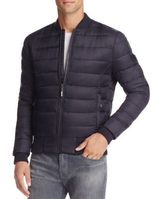 Superdry Fuji Quilted Bomber Jacket Navy Modesens