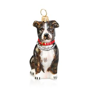 Joy to the World American Staffordshire Terrier Brindle Ornament