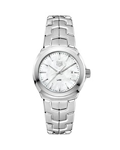 TAG Heuer Link Mother-Of-Pearl Watch, 32mm - Bloomingdale's_0