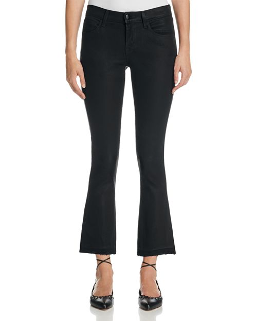 J Brand - Selena Mid Rise Coated Crop Jeans in Fearless