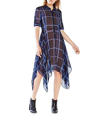 Bcbgmaxazria Beatryce Plaid Silk Dress