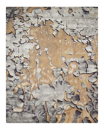 """Nourison - Prismatic Rug - Abstract Beige/Silver, 3'9"""" x 5'9"""""""