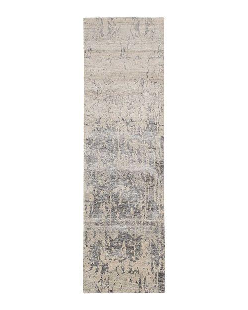 "Nourison - Silk Shadows Rug - Distressed, 2'3"" x 8'"