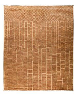 Solo Rugs Moroccan Area Rug - Brown Brick, 8'1 x 9'10