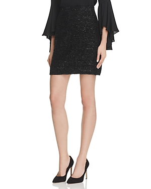 Milly Couture Metallic Tweed Skirt