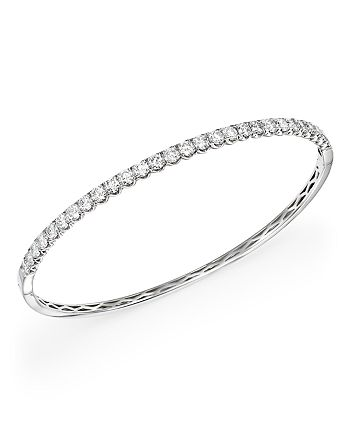 Bloomingdale's - Diamond Bangle in 14K White Gold, 2.50 ct. t.w. - 100% Exclusive