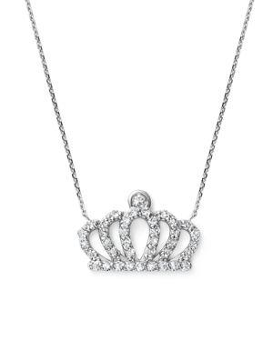 KC DESIGNS DIAMOND CROWN PENDANT NECKLACE IN 14K WHITE GOLD, .20 CT. T.W.