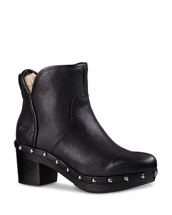 66caf0fe38b UGG® Cam II Leather and Sheepskin Booties | Bloomingdale's