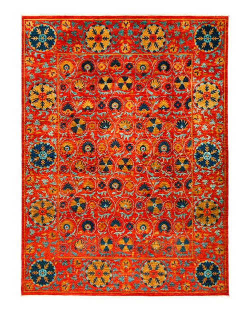 "Solo Rugs - Suzani Oriental Area Rug, 9'2"" x 12'3"""
