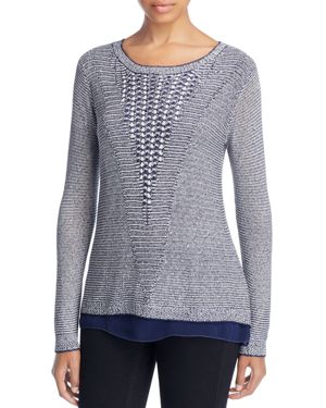 SEQUIN WOVEN SWEATER