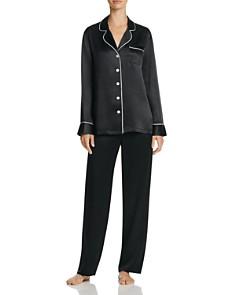 GINIA Long Silk Pajama Set - Bloomingdale's_0