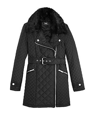 Bardot Junior Girls' Faux Fur Collar Quilted Jacket - Sizes 8-16