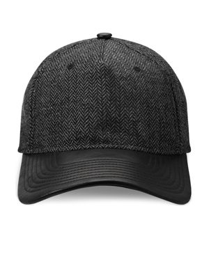 Gents Jose Herringbone and Leather Cap