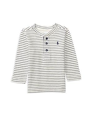 Ralph Lauren Childrenswear Infant Boys Striped Waffle Henley Top  Sizes 624 Months