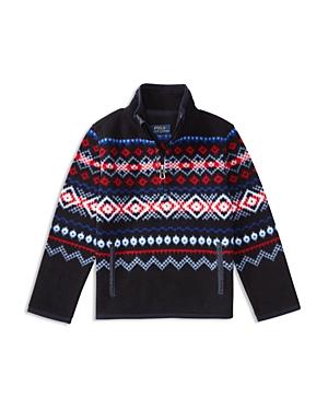 Ralph Lauren Childrenswear Boys' Nordic Print Fleece Pullover - Sizes 4-7
