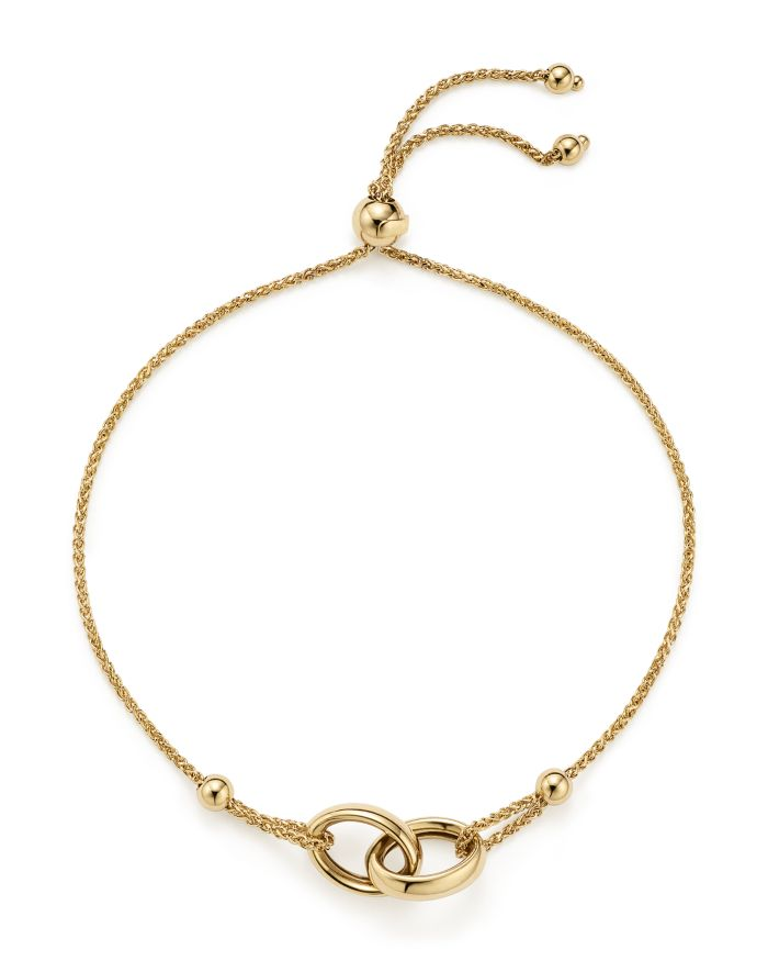 Bloomingdale's 14K Yellow Gold Double Oval Wheat Chain Bracelet - 100% Exclusive  | Bloomingdale's