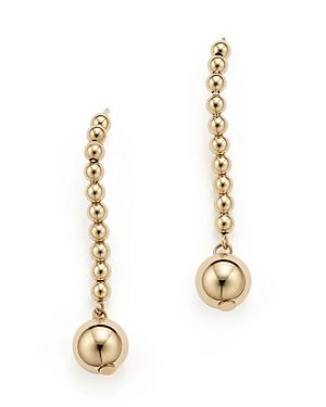 14K Yellow Gold Bead Drop Earrings - 100% Exclusive