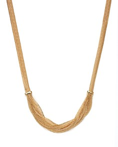 "Bloomingdale's - 14K Yellow Gold Braided Mesh Necklace, 17"" - 100% Exclusive"