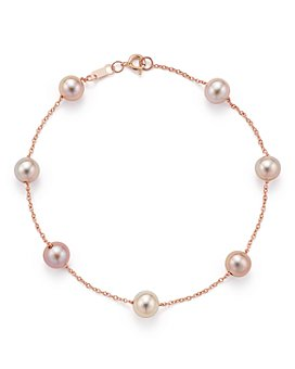 Bloomingdale's - Cultured Pink Freshwater Pearl Tin Cup Bracelet in 14K Rose Gold, 5.5mm  - 100% Exclusive