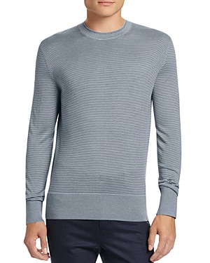 Theory Villings Silk Cashmere Striped Sweater