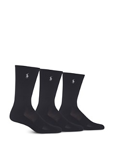 Polo Ralph Lauren Athletic Crew Socks - Pack of 3 - Bloomingdale's_0