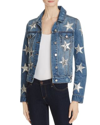 STAR APPLIQUED DENIM JACKET