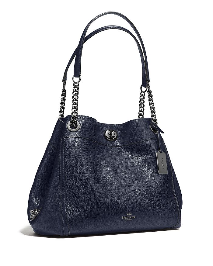 cffdacd2ca6f COACH - Turnlock Edie Shoulder Bag in Pebble Leather