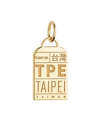JET SET CANDY Taipei, Taiwan Tpe Luggage Tag Charm in Gold