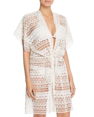 Gottex Pearl Goddess Crochet Cover-Up