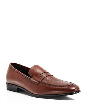 Salvatore Ferragamo Textured Leather Loafers