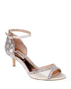 Badgley Mischka - Gillian Embellished Ankle Strap Sandals