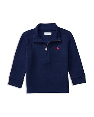 Ralph Lauren Childrenswear Infant Boys' French Rib Half Zip Top - Sizes 6-24 Months