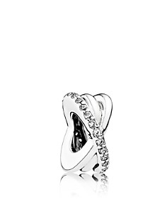 PANDORA Sterling Silver & Cubic Zirconia Galaxy Entwined Spacer Charm, Moments Collection - Bloomingdale's_0