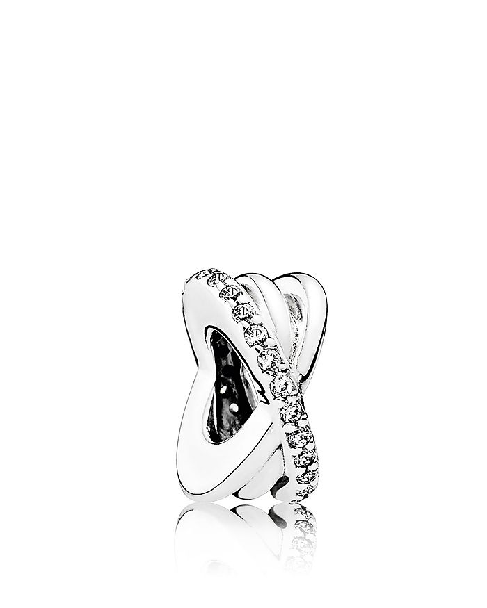 Pandora - Sterling Silver & Cubic Zirconia Galaxy Entwined Spacer Charm, Moments Collection